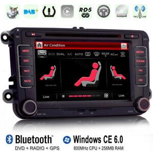 "Für VW Golf Tiguan Skoda Polo Passat 7"" HD Autoradio NAVI GPS DVD BT Touchscreen"