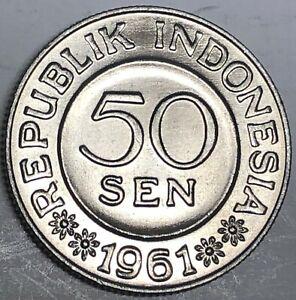 # C2630     INDONESIA   COIN,     50   SEN   1961  Unc.