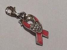 Tingle Charm Pink Ribbon  Sterling Silver rrp £35