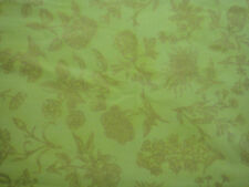 FIELD NOTES, Kaufman, Made in Japan, Gold Floral/Lt Green Quilt/Craft, 2 yd