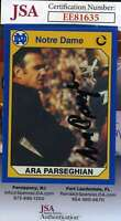 Ara Parseghian 1991 Notre Dame Jsa Coa Hand Signed Authentic Autograph