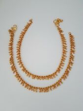 Indian jewellery traditional vintage pair of payal anklet imitation gold