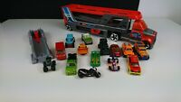 Hot Wheels And Matchbox Car Bundle 15 Items Including a Transporter Launcher