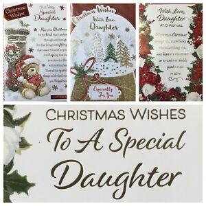 "DAUGHTER CHRISTMAS CARD  5.5""x7.5"" APPROX   (XMAS9)"
