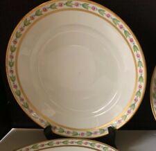 """6 Limoges 10"""" Dinner Plates Reizenstein Charles Ahrenfeldt CA France Depose"""