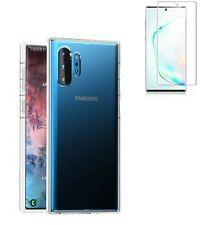 Funda Samsung Galaxy Note 10 Plus TRANSPARENTE GEL SILICONA + PROTECTOR COMPLETO