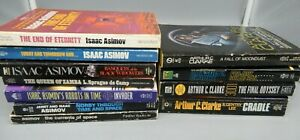 Lot of 11 vintage sci fi pb books by ISAAC ASIMOV and ARTHUR C. CLARKE
