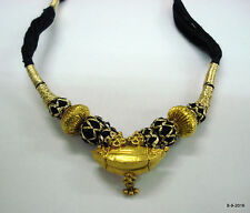 necklace beads tribal gold jewellery vintage antique 20kt gold pendant