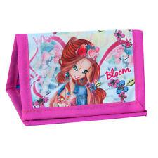 WINX Fairy Wallet Purse su una stringa Ragazze Blu Rosa Bloom