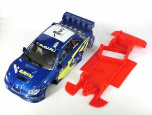Chasis Subaru WRC ´06 AW Mustang Slot compatible Ninco carroceria no incluida