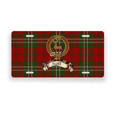 Scott Scottish Clan Tartan Novelty Auto Plate Tag Family License Plate