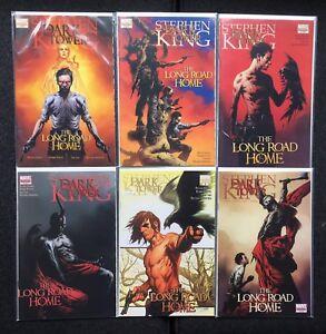 2008 Marvel Stephen King Dark Tower Long Road Home SET 1-5 + #4 Variant Cover NM