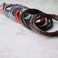 Top Quality Teenage Leather Bolo Wrap Bracelet in various colors & Lobster Clasp