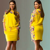 Women New Style Printed Floral Skirts Loose Plus Size Dress Top Blouse Hot Zsell
