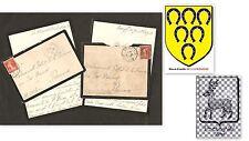 Lettres 1913 (x2) à POTIER DE LA FERRIERE Famille bretonne millénaire, 8 pages..