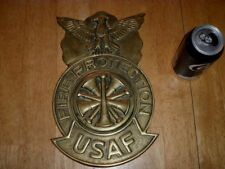 [USAF] U.S. AIR FORCE - FIRE PROTECTION,[3-D] LOGO EMBLEM WALL SIGN, SOLID METAL