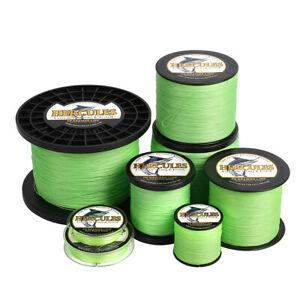 Hercules 4 8 9 12 Strands 6-300lbs Braided Fishing Line Fluorescent Green Tackle