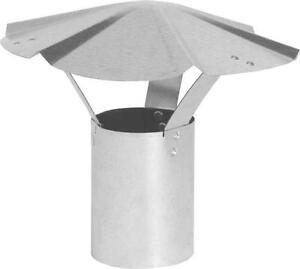 NEW IMPERIAL GALVANIZED 6 INCH HEATER STOVE PIPE ROUND VENT RAIN CAP 6721492