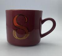 Opalhouse 16oz Stoneware Monogram Mug - S Initials Red Cup M coffee Mug Cup