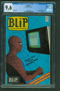 Blip #2 CGC 9.6 White Marvel Comics 1983 video game tie in low pop Spider-Man