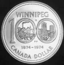 Canada Commemorative. Silver Dollar 1974 Winnipeg Centennial #180272