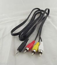 Adapter AV Audio Video Cable 2.5mm Mini Stereo Aux Plug To 3 RCA Male 1.5m/5ft