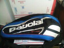 Babolat Team Tennis Bag x6 Racquet Dual Shoulder Straps Expandable Blue Red