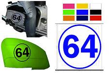 """2x Body Panel calcomanías 8 """"x 8 pulgadas de vinilo el número de etiqueta-cualquier número de cualquier color"""