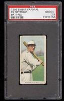 1909-11 T206 Cy Seymour Batting Sweet Caporal 150 New York PSA 2.5 Good +