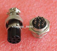 5pcs GX16-8 8Pin Aviation Metal Connectors M16 Panel Mounting Plug and Socket
