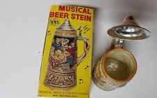 NEW VNTG Japan -  German Style Embossed BEER STEIN MUSIC BOX- Beer Barrel Polka
