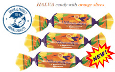 New halva candy with orange slices in chocolate ROT FRONT