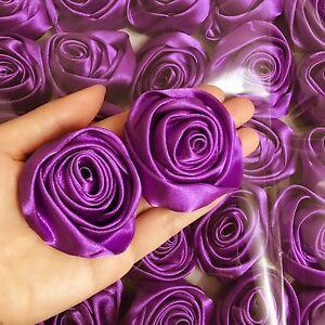Vintage Tiny Satin Ribbon Roses