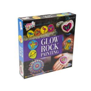 Paint your own Glow In The Dark Garden Rocks Set Kit Childrens Kids Creative Lea
