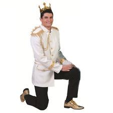 giacca bianca oro principe azzurro travestimenti carnevale adulto tg 52 - 54