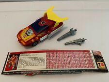 VINTAGE 1985 Hasbro G1 TRANSFORMERS HOT ROD 100% Complete Figure Car