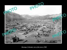 OLD LARGE HISTORIC PHOTO DURANGO COLORADO, PANORAMA VIEW OF THE TOWN c1900 4