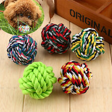 NEW Pet Puppy Rope Dogs Cottons Chews Toy Ball Play Braided Bone Knot For Fun