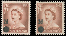 NEW ZEALAND 1958 2p on 1½p SURCHARGES MINT #319-20 MLH $170.00