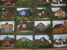 Quilt Trail - Riverwoods Collection by Karen Combs- Barn Panel