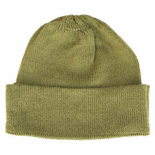 100% Alpaca Wool Cap Beanie Hat Cane Green One Size ~ Women Men Accessories
