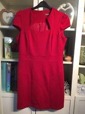 088 South Plus Sz 18 Deep Xmas Red Smart Sexy Office Dress