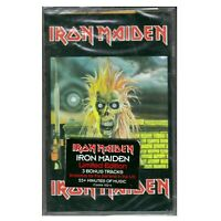 Iron Maiden - S/T New Cassette, 3 Bonus Tracks, Sealed Copy, Castle Records