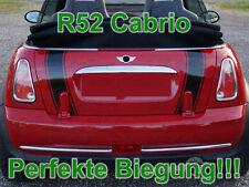 Streifen Boot Stripes Aufkleber Heckklappe f. MINI COOPER R52 Cabrio Works Jack