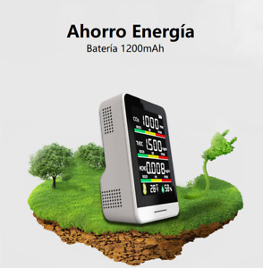 Medidor CO2 Monitoreo de Co2 Detector de Dióxido de Carbono Batería Recargable