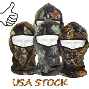 Hunting Balaclava Face Cover, Windproof Camo Tactical Hood Headwear for Unisex