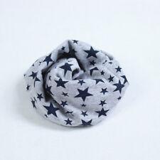 Cute Children's Cotton Scarf Ring Scarves Shawl Winter Knitting Neck Warmer Hot Grey