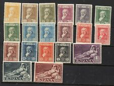 SPAIN STAMPS 1930 GOYA POSTAGE SET OF 17 (19 TOTAL)  MINT AND MOUNTED MINT