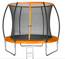 10FT Trampoline with internal safety net enclosure, ladder+rain cover (48hr del)