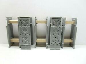 KidKraft Wooden Train 5x Light Gray Double Track Risers Supports | Thomas Brio